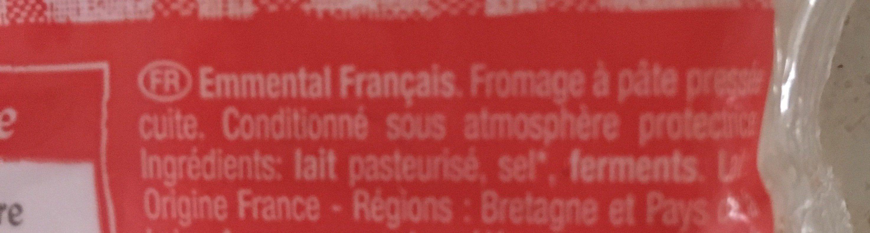 L'emmental - Ingrédients - fr