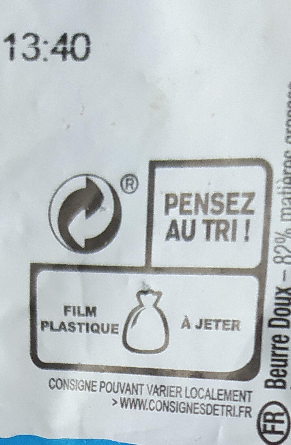 Le Beurre Moulé Doux (82 % MG) - Instruction de recyclage et/ou informations d'emballage - fr