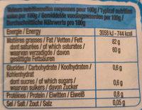 Le beurre Moulé Doux - Nutrition facts - fr