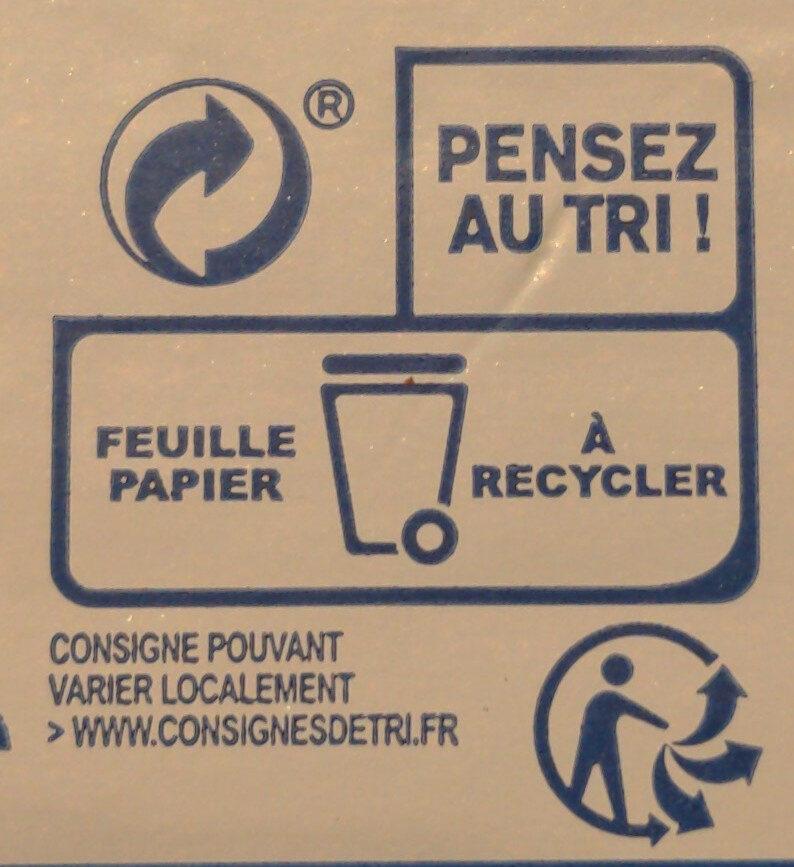 Beurre Aux Cristaux de Sel de Guérande - Instruction de recyclage et/ou information d'emballage - fr