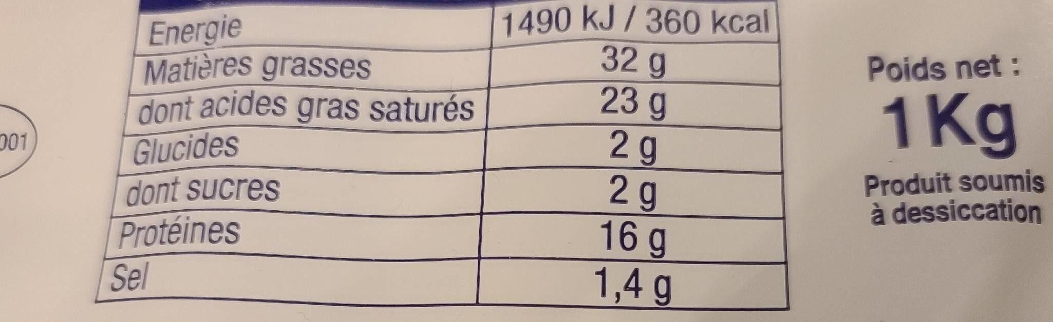 Petit brie - Nutrition facts - fr