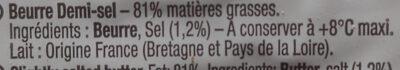 La pointe de Sel - Ingrédients - fr