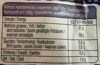 La pointe de Sel - Informations nutritionnelles - fr