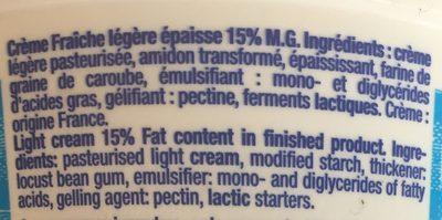 Creme fraiche - Ingrédients - fr
