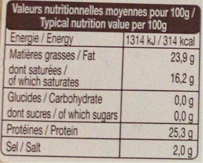 L'Edam - Informations nutritionnelles - fr