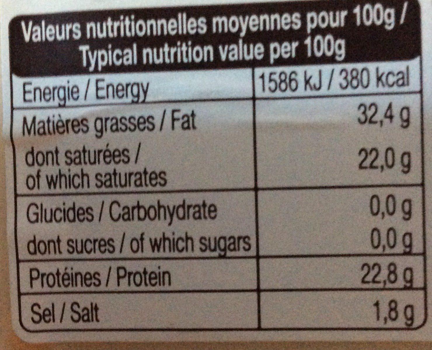 Le chèvre - Informations nutritionnelles - fr