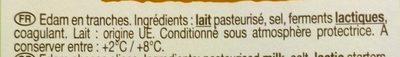L'Edam - Ingrediënten - fr