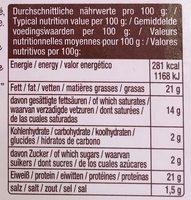 La Baguette - Informations nutritionnelles - fr