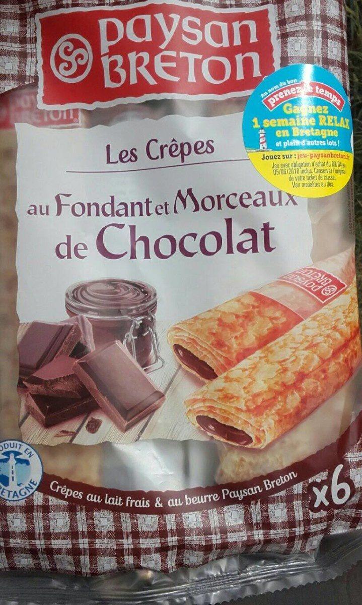Crêpes au fondant et morceaux de chocolat - Product - fr