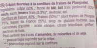 Crêpes à la Confiture de Fraises de Gariguette - Ingrédients - fr