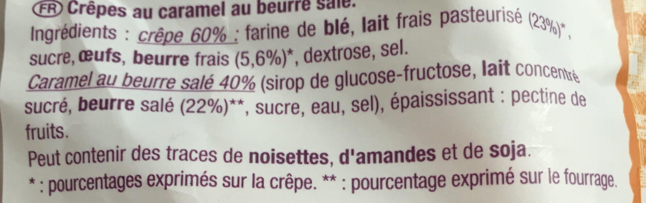 Crêpes au caramel au beurre salé - Ingrédients - fr