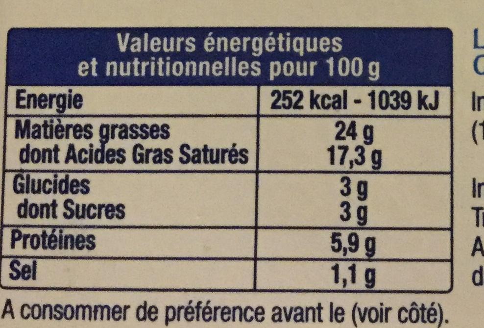Le Fromage Fouetté - Informations nutritionnelles - fr