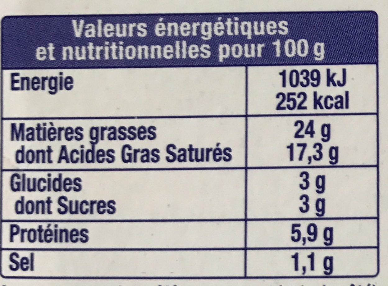 Fromage fouetté Madame Loïk - Nutrition facts - fr