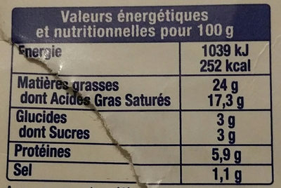 From fouette mme loik nature - Informations nutritionnelles - fr