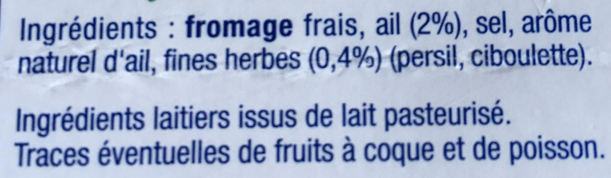 Fromage fouetté de Madame Loïk Nature -25% Sel - Ingrédients - fr