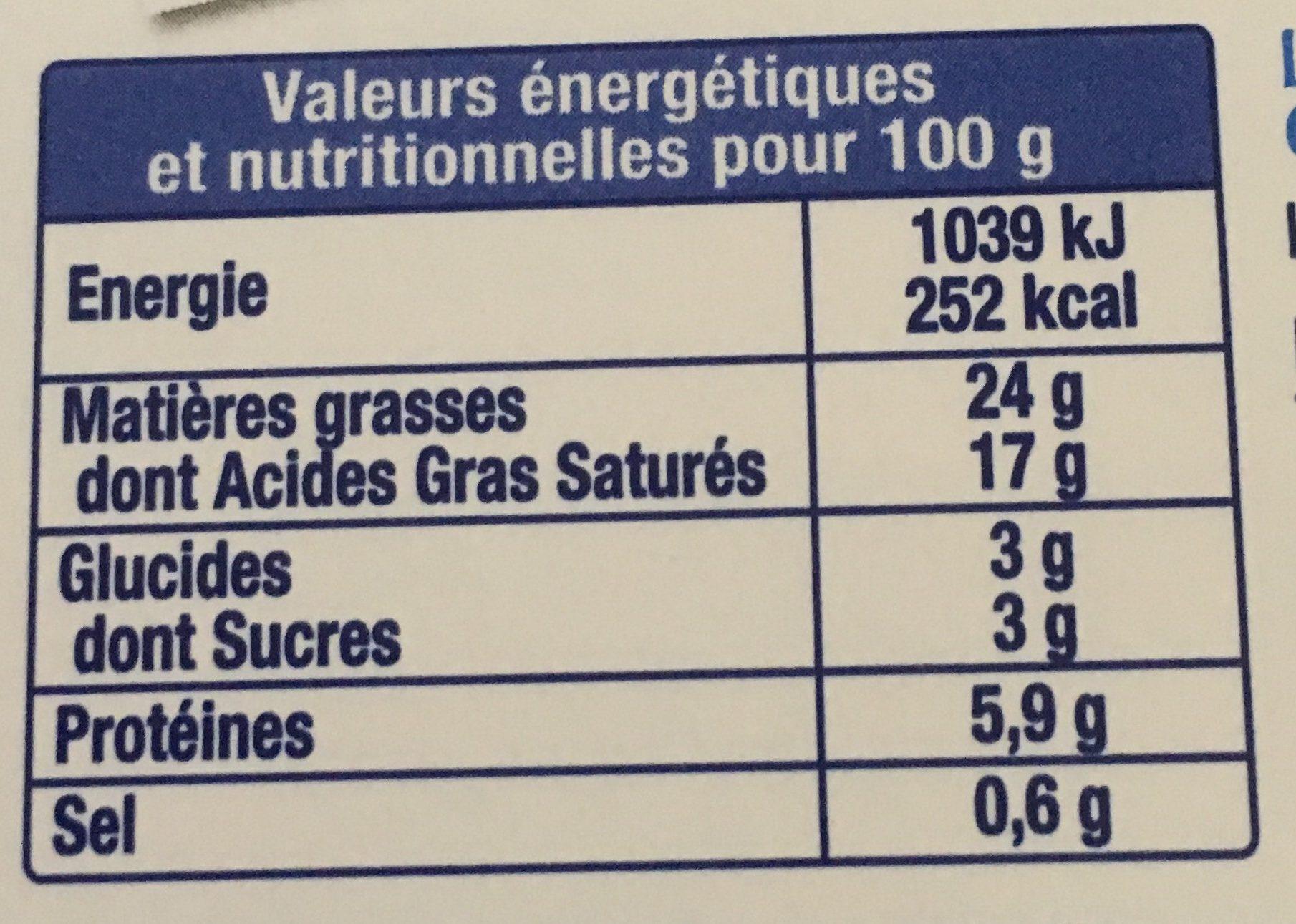 Fromage fouetté de Madame Loïk Nature -25% Sel - Informations nutritionnelles - fr