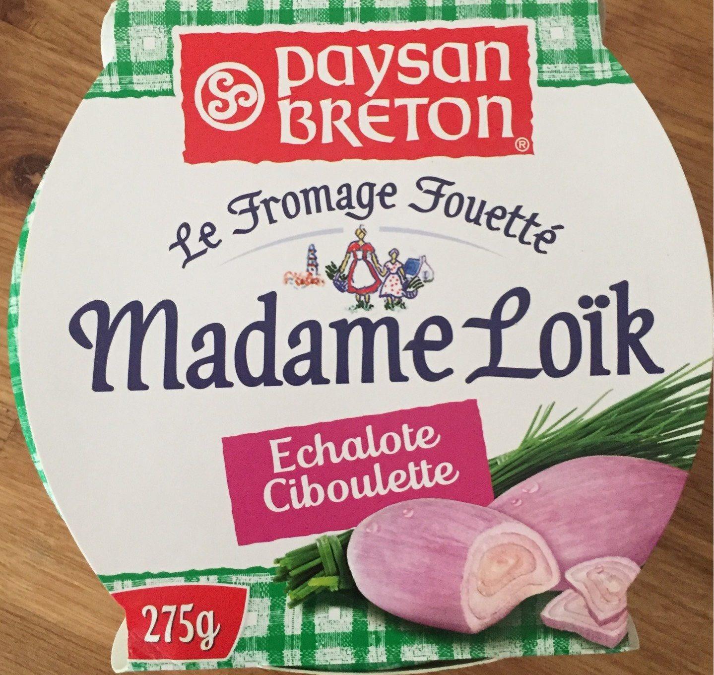 Fromage fouetté Madame Loïk à l'échalote ciboulette - Produit - fr