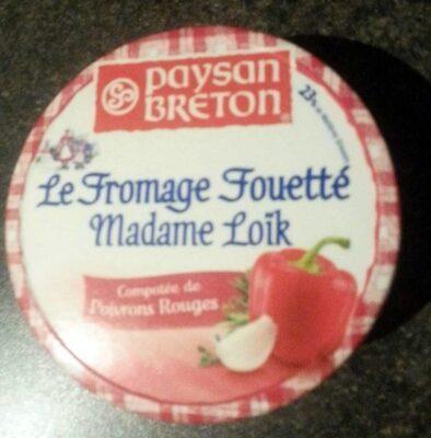 Le fromage fouetté Madame Loik Poivrons rouges - Produit - fr