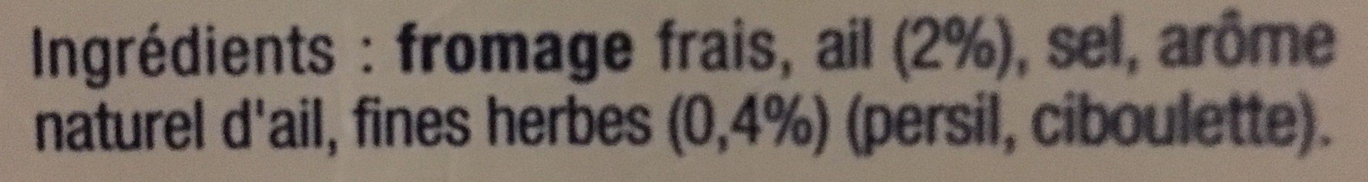 Fromage Fouetté - Ingrédients - fr