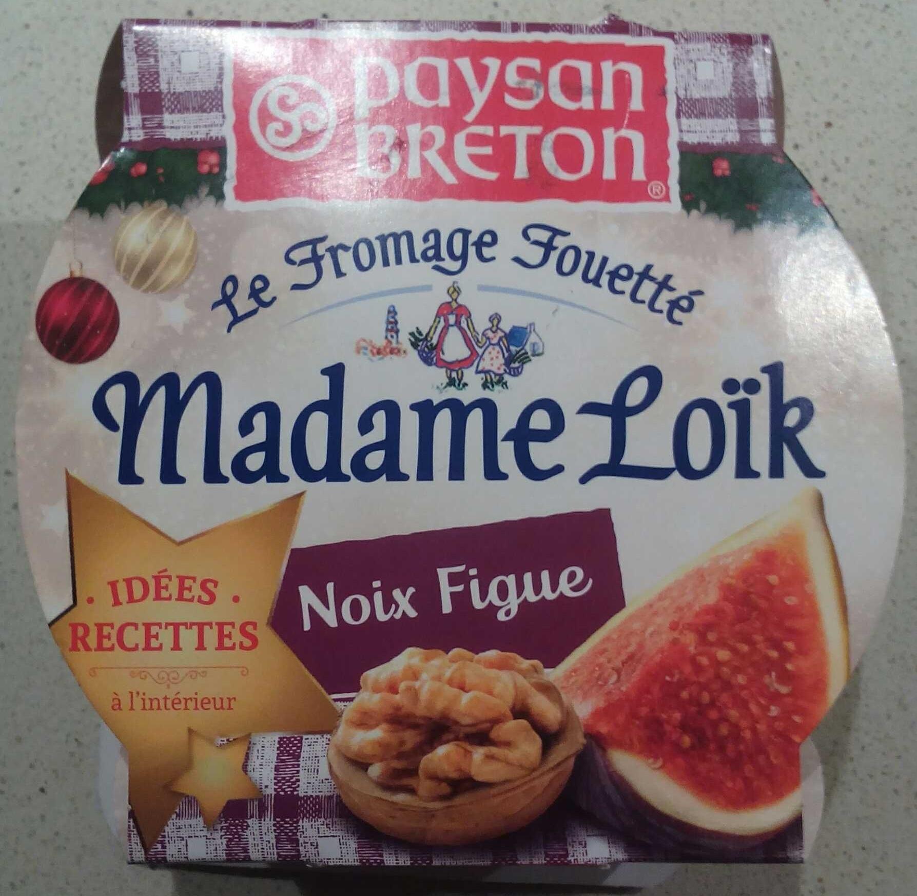 Le Fromage Fouetté Madame Loïk, Noix Figue (24% MG) - Produit - fr