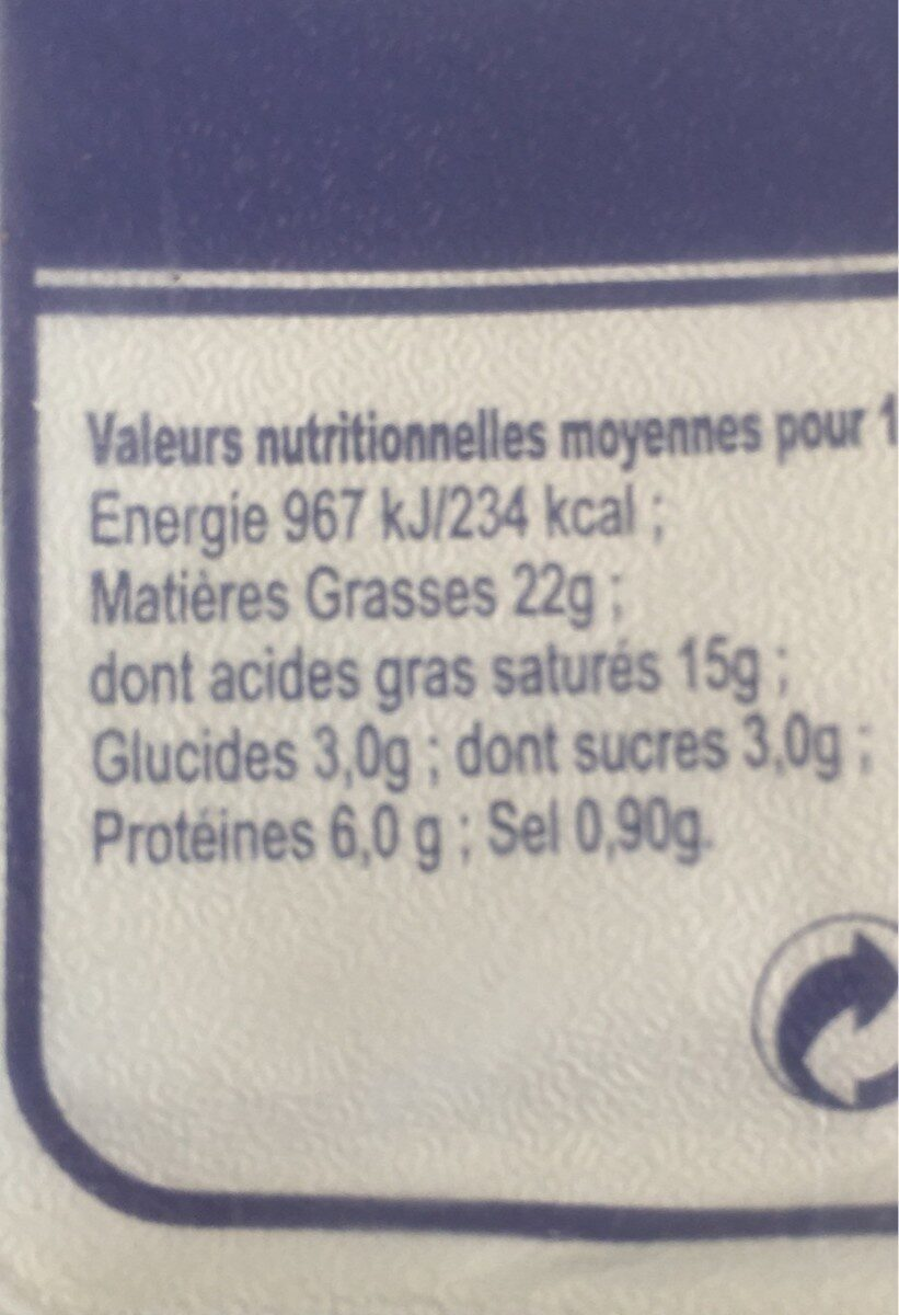 Fromage a tartiner nature - Informations nutritionnelles - fr