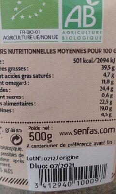 Omegasio - Valori nutrizionali - fr