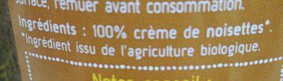 Crème de noisettes 700g - 成分 - fr
