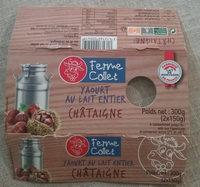 Yaourt brassé sucré au lait entier sur lit de fruits Châtaigne - Product