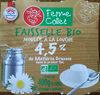 Faisselle bio, fromage blanc au lait pasteurise, les 4 pots de - Product
