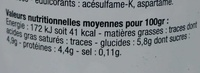 Yaourt 0% vanille - Informations nutritionnelles