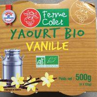 Yaourt bio vanille - Product - fr