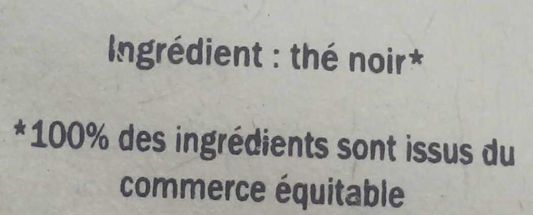 Thé Noir Darjeeling - Ingrediënten - fr