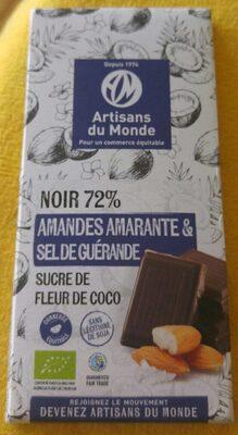 Noir 72 %  amandes amarantes & sel se guérande - Product