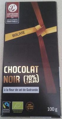 Chocolat noir (70%) à la fleur de sel de Guérande - Product