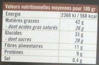 Chocolat noir (70%) à la fleur de sel de Guérande - Nutrition facts