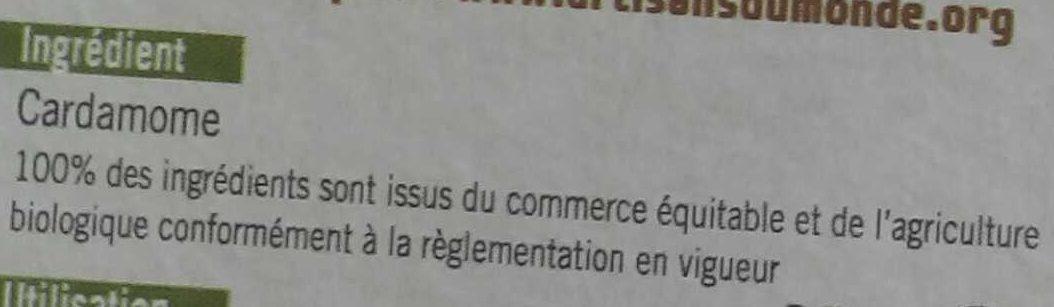 Cardamome - Ingrediënten - fr