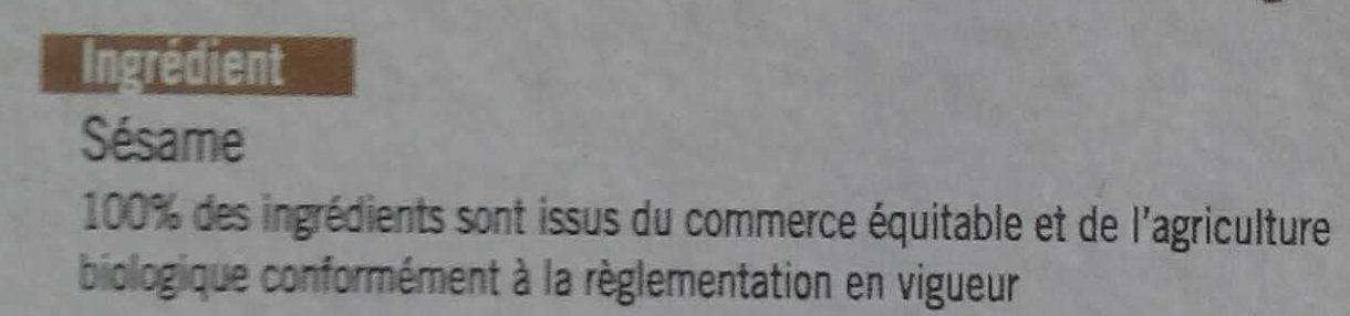 Sésame - Ingrediënten - fr