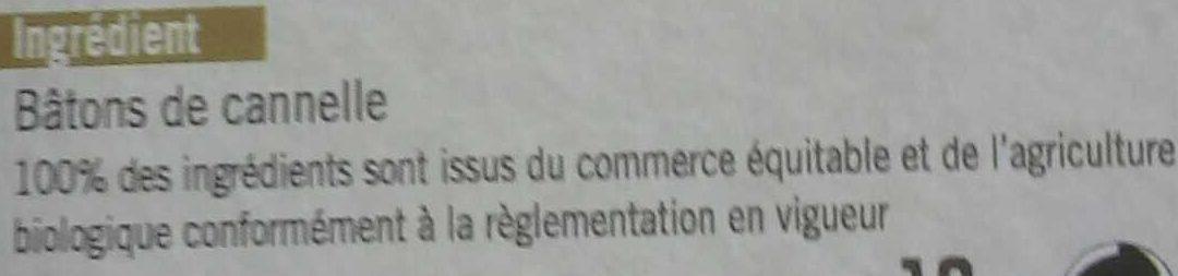 Bâtons de cannelle - Ingrédients - fr