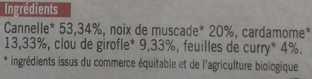 Mélange pour vin chaud - Ingrédients - fr