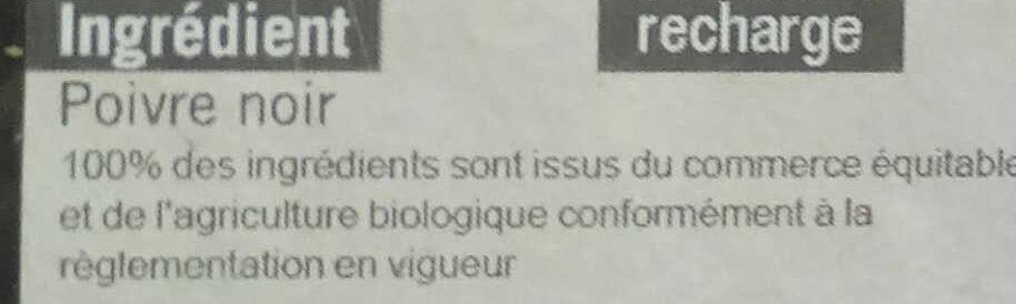 Poivre noir - Ingrediënten - fr