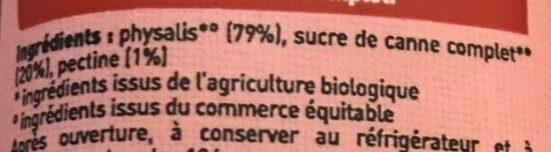 Spécialité de Physalis 79% de fruit - Ingredients - fr