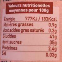 Spécialité de Physalis 79% de fruit - Nutrition facts - fr