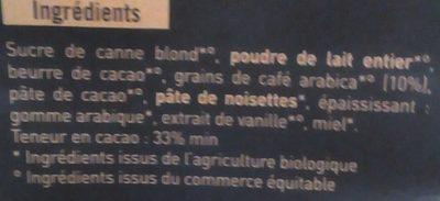 Douceur au chocolat Grains de café arabica - Ingrédients - fr
