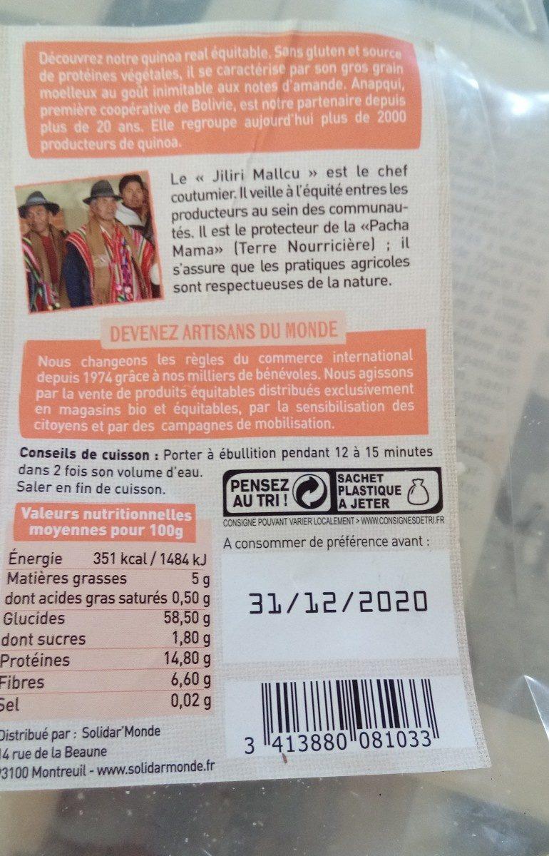 Quinoa real blanc - Ingredients - fr