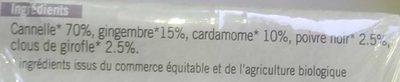 Mélange d'Épices Pour Infusion Tchaï - Ingrediënten