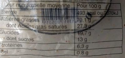 Maxi Galettes - Nutrition facts - fr