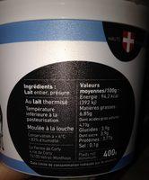 Tomme blanche fermière 4,85/00 mg - Ingrediënten