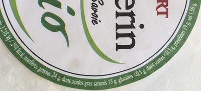 Fromage bio Vacherin Fruitières Chabert - Informations nutritionnelles - fr
