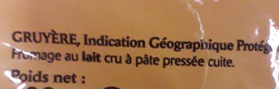 Gruyère râpé France - Ingredients
