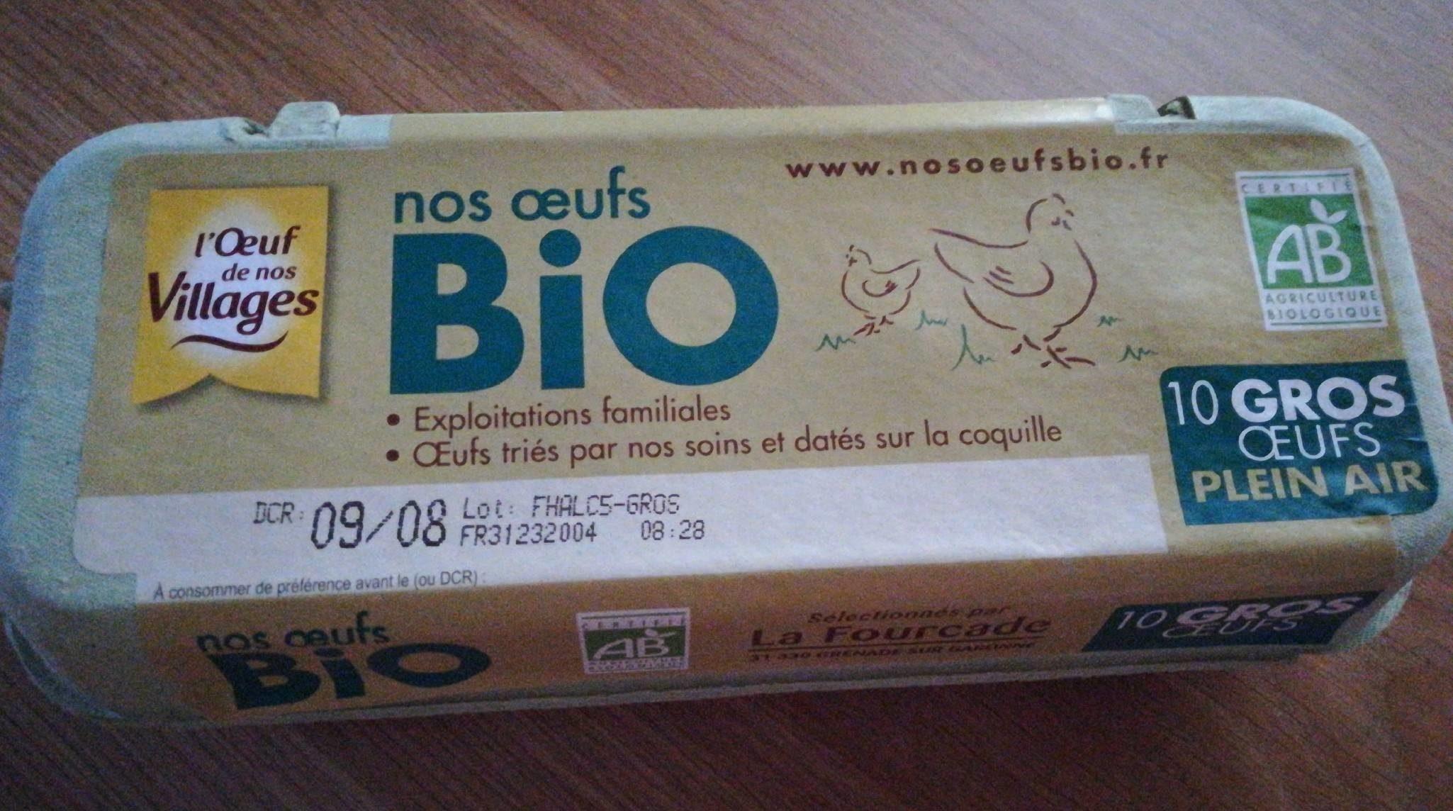 10 Gros œufs Plein Air Bio - Product - fr